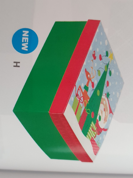 Colourful Santa Medium Gift Box